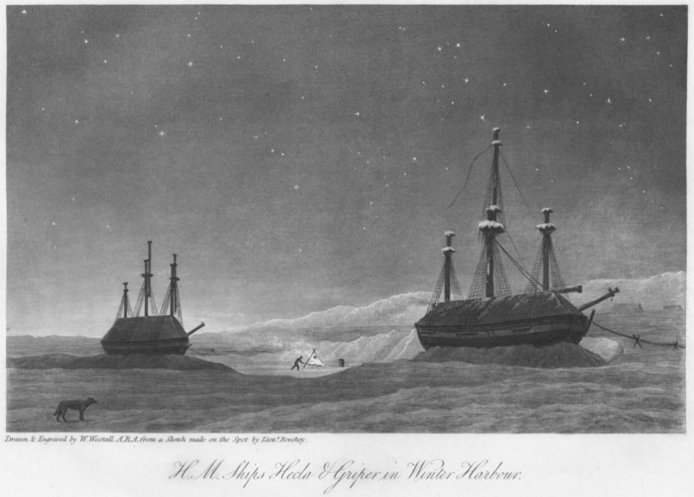 H M Ships Hecla & Griper in Winter Harbour