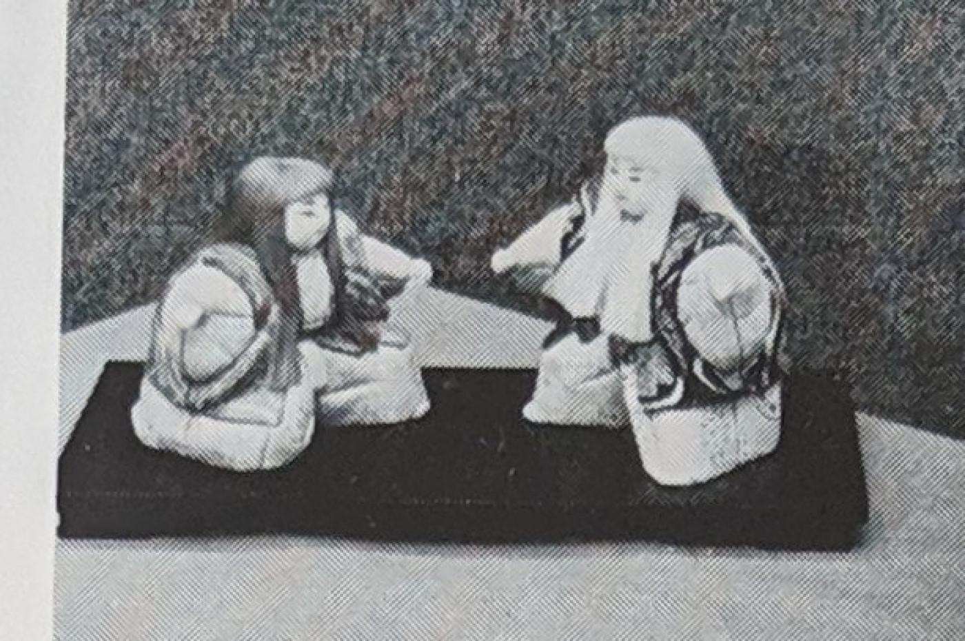 Japanese costume dolls sent in by Mrs Hamada, wife of a senior ship and engineer surveyor