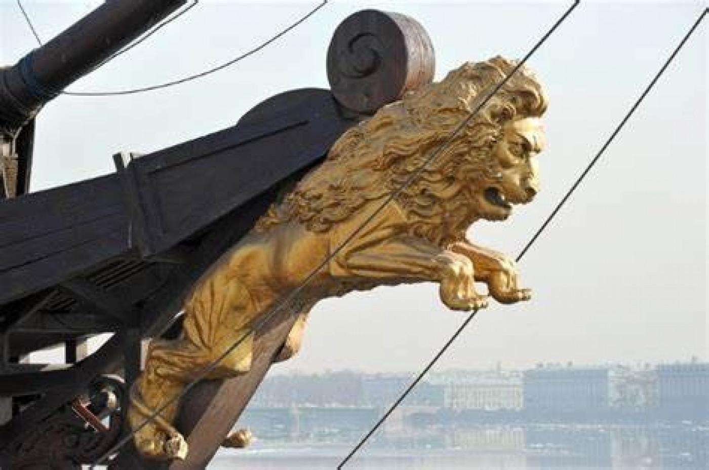 Lion figurhead