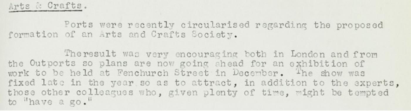 Excerpt from LR's staff newsletter, 1951