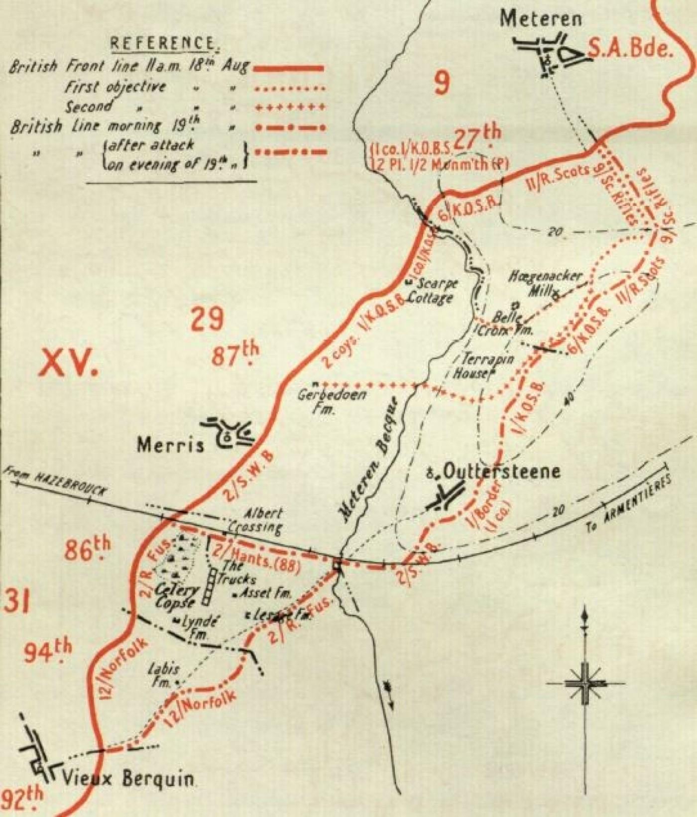 Outtersteene map