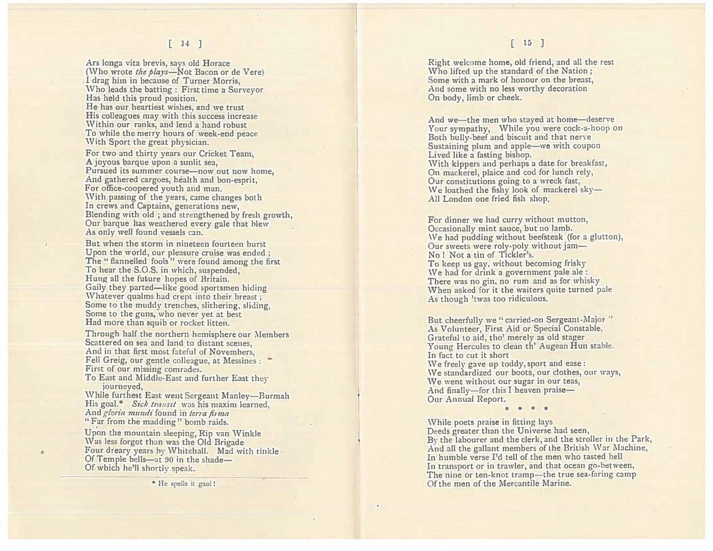 Poem WW1