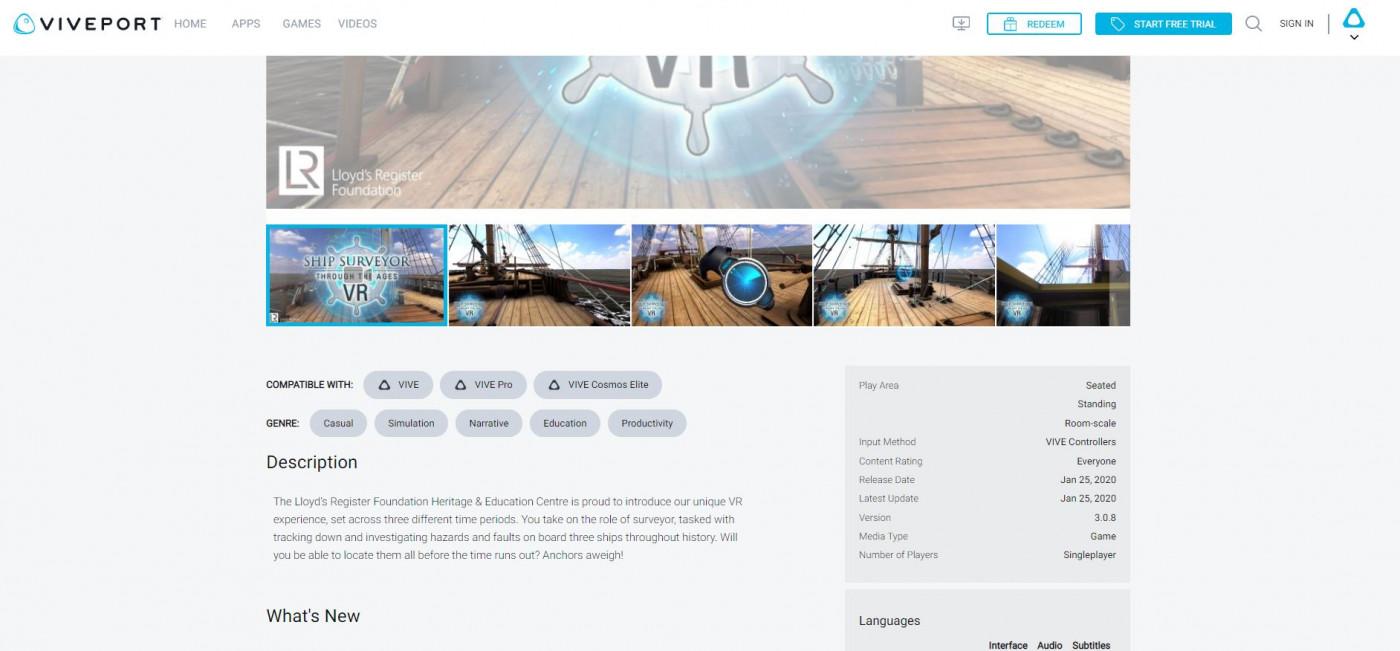 Viveport screenshot