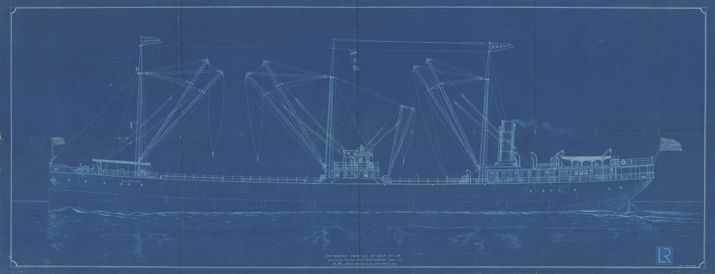 Plan of Outboard Profile for City of Wilmington, May 1912