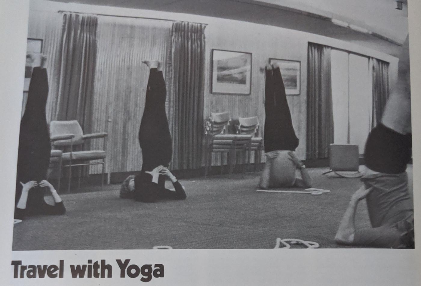 The Yoga Club goes abroad, Society magazine 1982