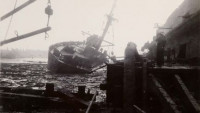 The SS Wilson B. Keene, destroyed in the 1947 Texas City disaster's second explosion