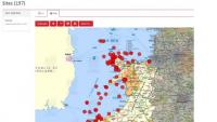 Coflein map of Lloyd's Casualty returns listing