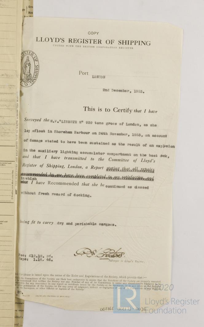 survey certificate