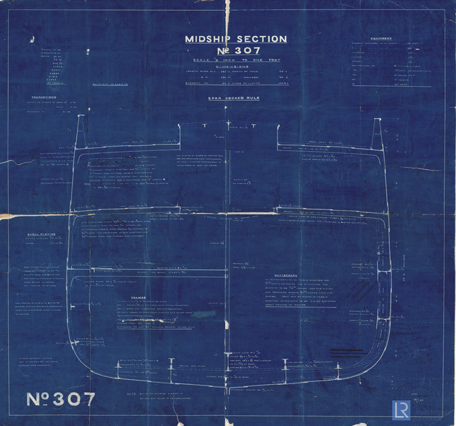 Midship Section Plan For Orion 28 February 1889 ...
